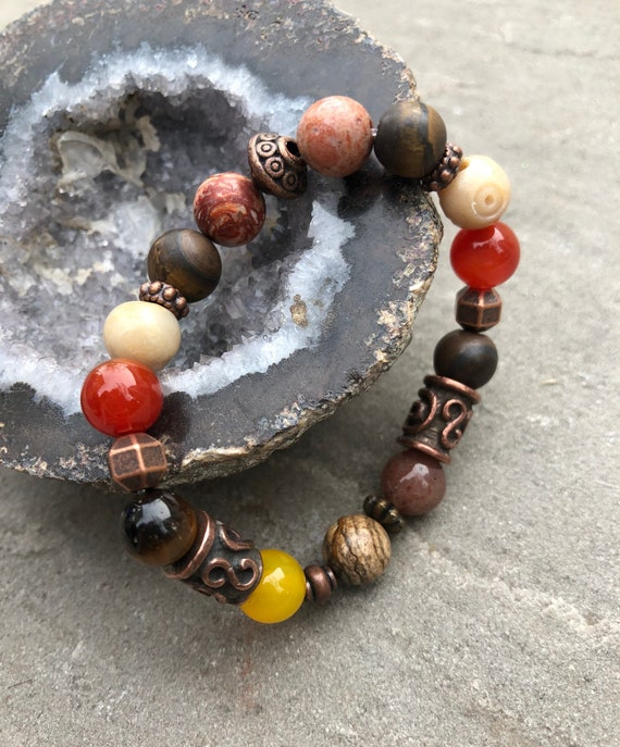 Earthy Bohemian Bracelet. Women's Bracelet. Gift For Her. Yoga. Meditation. Zen