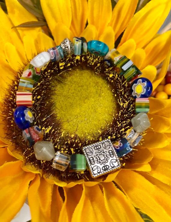 Funky Beaded Bracelet. Womens Bracelet/Gift For Her. Gift for him. Boho Bracelet