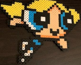 Powerpuff Girls Bubbles Wooden Pixel Wall Art by NinjaWorkshop