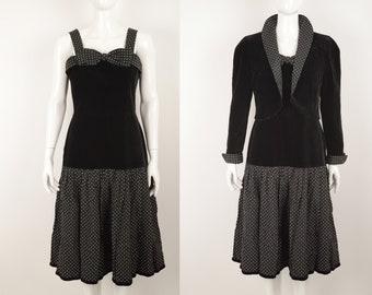 Vintage Hero Paris Reine Schurwolle Creation A La Mode Long Sleeve Dress