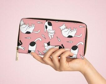 Happy Cat Kawaii Fairy Kei Zipper Wallet