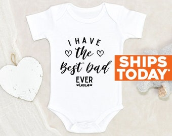Father's Day Custom Onesie® Unisex Personalized Name Baby Onesie® Cute Best Daddy Ever Custom Baby Clothes Personalized Baby Onesie®