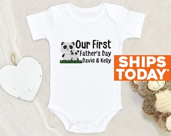 Personalized Baby Onesie® Our First Father's Day Onesie® Personalized Father's Day Clothes Custom Baby Girl Onesie® Custom Baby Boy Onesie®