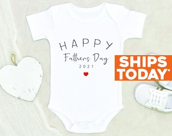 Modern Custom Onesie® New Dad Gift Father's Day Baby Clothes Happy Father's Day Personalized Baby Onesie® First Father's Day Baby Clothes