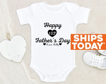 Custom Father's Day Gift Happy First Father's Day Daddy Onesie® Custom First Father's Day Onesie® First Father's Day Baby Clothes