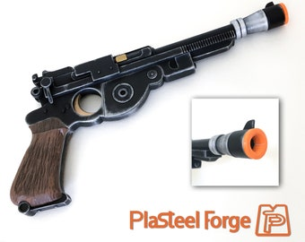 Pistol of the Mandalorian Blaster Fan Art inspired by the series