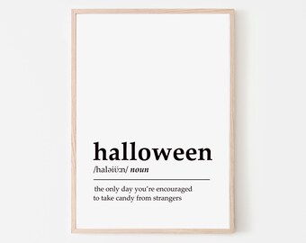 Halloween Definition Printable   Halloween Print   Halloween Definition Poster   Halloween Printable   Halloween Decor   Instant Download
