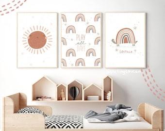 Scandi Wall Art Dream Big Prints Boys Bedroom Set Of 4 Scandi Nursery Prints Nursery Decor Boho Prints Nursery Design Scandi Print