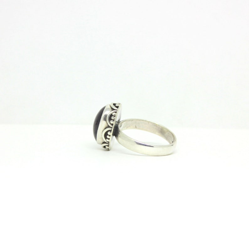 Garnet Daily Wear Jewellery Beautiful Gift For Women Labradorite And Black Onyx 925 Sterling Silver Ring Jewelry