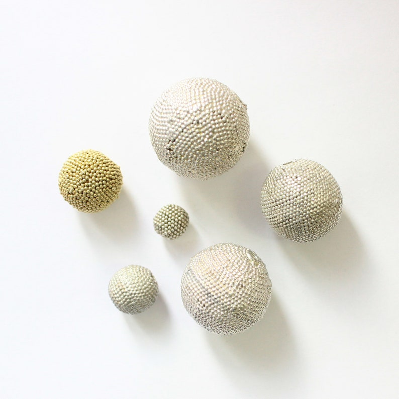 925 Sterling silver disco ball beads sizes 7.5 mm to 22 mm in plain silver and gold finish Bead Jewelry finding