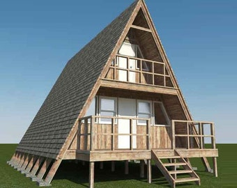 A-Frame House Plans with free Energy Saving Checklist