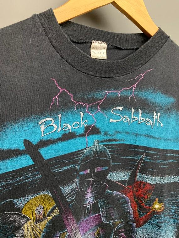 BLACK SABBATH 80s Vintage Band Black Metal T-Shir… - image 3
