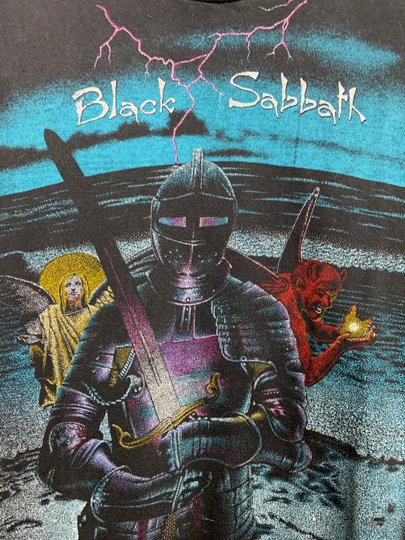 BLACK SABBATH 80s Vintage Band Black Metal T-Shir… - image 5