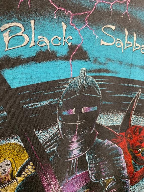 BLACK SABBATH 80s Vintage Band Black Metal T-Shir… - image 6