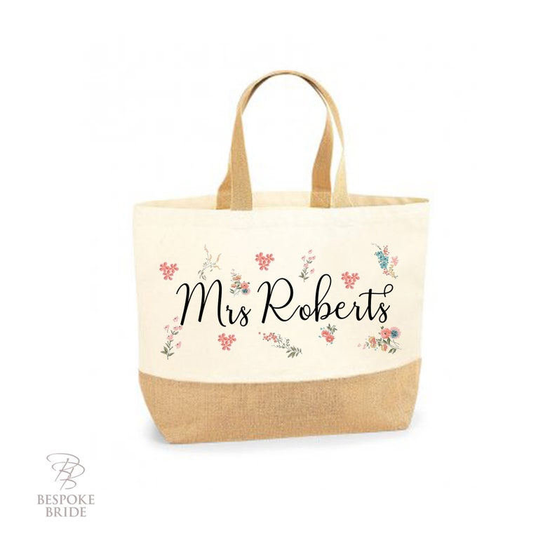 Teacher Tote Bag Personalised Teacher Tote Bag Gift For image 0