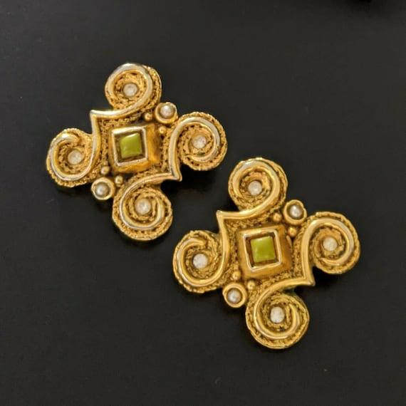 Claire DEVE Paris, large earrings with clips, vin… - image 3