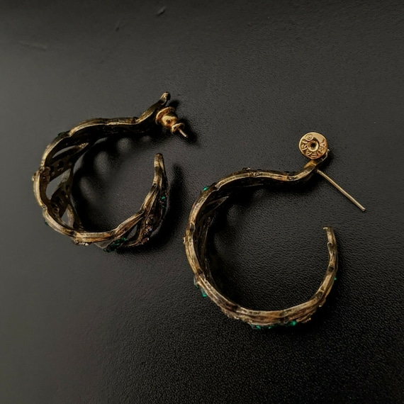 TRIFARI US, Large Earrings, vintage, Creoles, Ear… - image 7