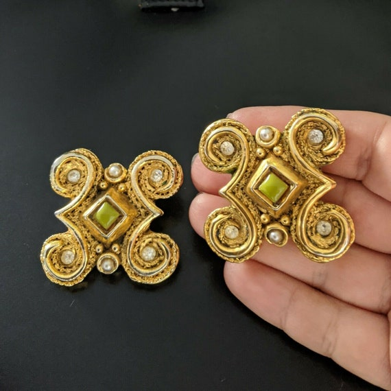 Claire DEVE Paris, large earrings with clips, vin… - image 5