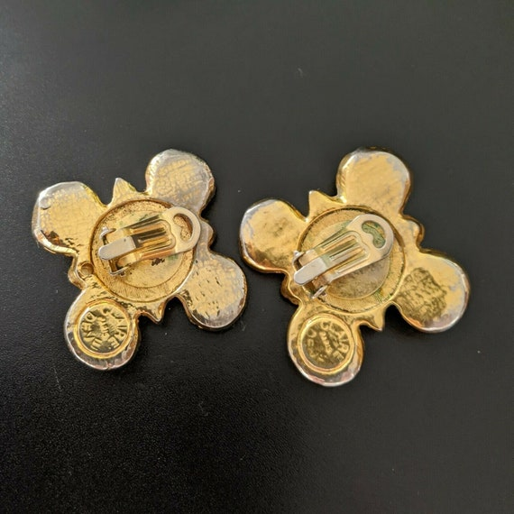 Claire DEVE Paris, large earrings with clips, vin… - image 6