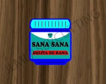SANA SANA SVG File for Badge Reel.