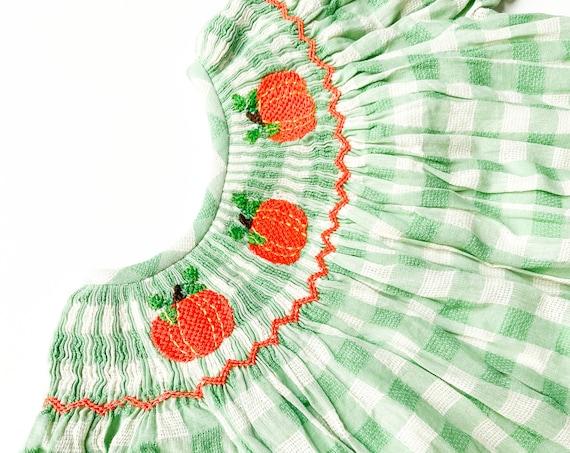 Green Pumpkin Dress (ready to ship)