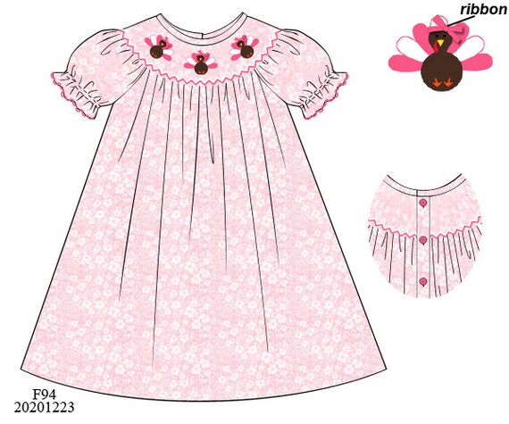 Girly Turkey Dress Preorder (SHIPS Late August/ Early September)