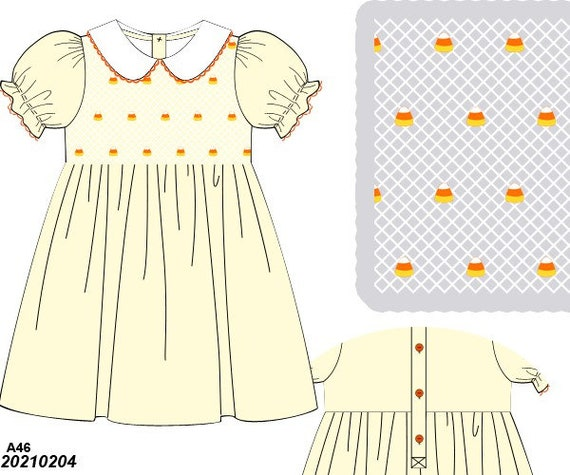 Candy Corn Dress Preorder (Ships Late August/ Early September)