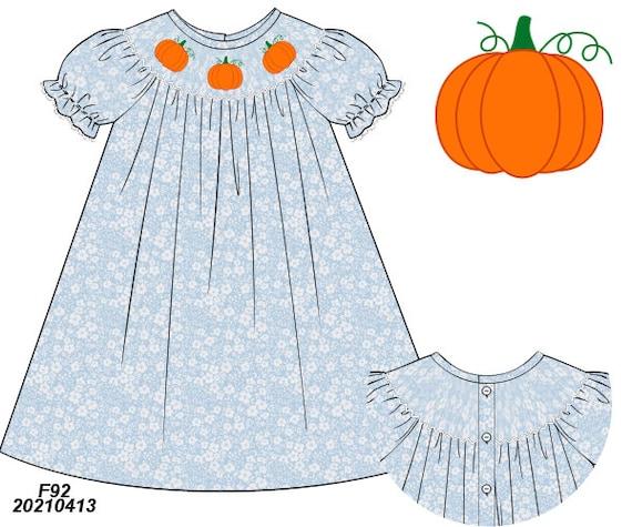 Pretty Pumpkin dress (Preorder) SHIPS Late August/ Early September
