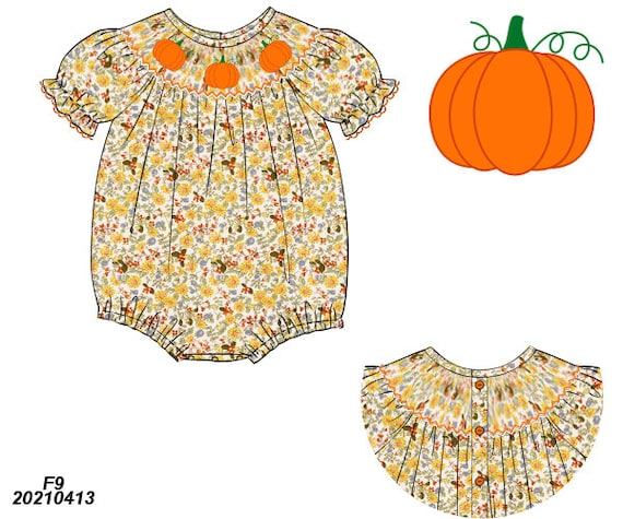 Floral Pumpkin Bubble Preorder (SHIPS Late August/ Early September)