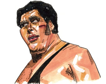 Andre the Giant Portrait