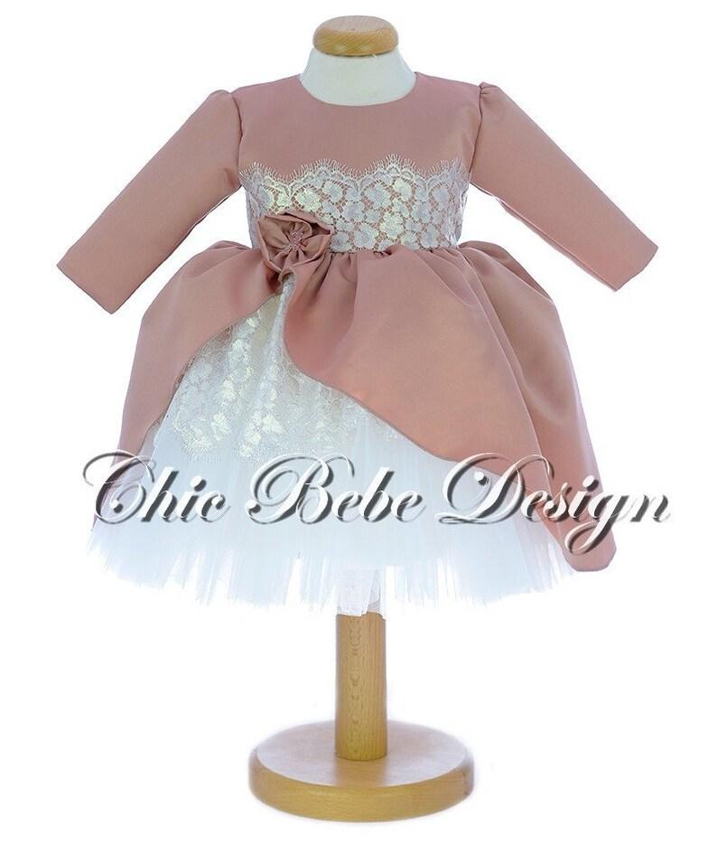 Girls blessing dress Flower Girl Dress Baptism Dress First Birthday Dress Luxury Christening Wear Luxury Girl Dress Christening Dress