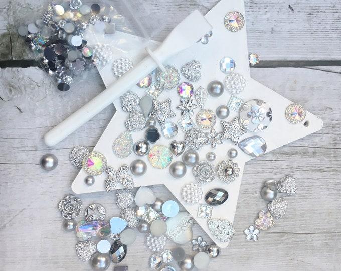 Craft Kit - Jewelled Star kit, gems, rhinestones, buttons, adult, child, decoration