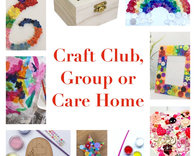 Craft Kits for Groups, Care Homes or Clubs, wholesale orders, discount for multi pack purchase