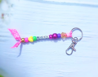 Craft Kit - Beaded Keyrings to make with child's name
