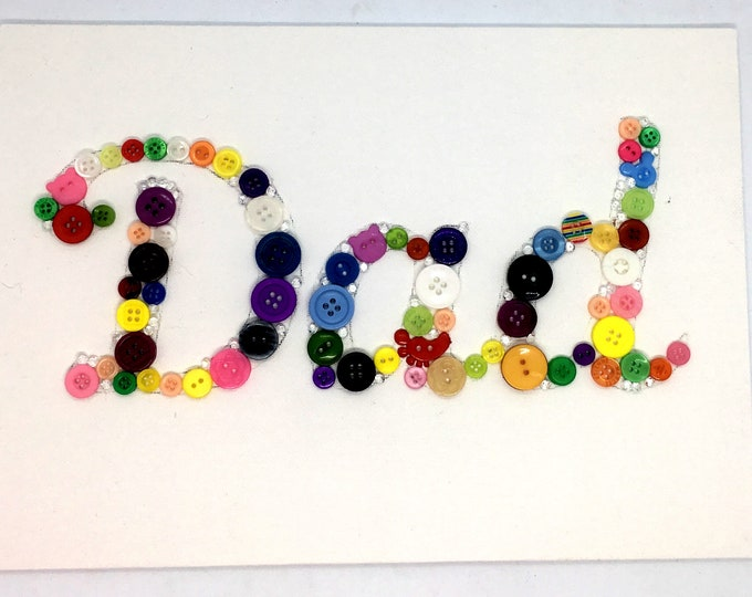 Craft Kit - Personalised Button Canvas Kit, two older/easy options for children, with paint, gems , brush and rhinestones