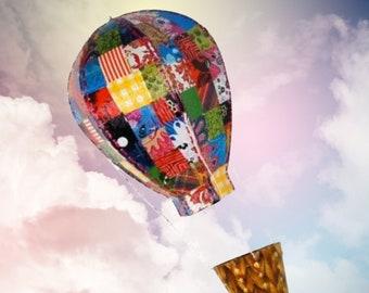 Craft Kit - Hot Air Balloon, large, decoupage, collage, paint, kids, adult, papier-mâché