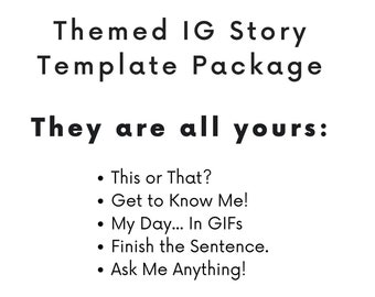 Instagram package | Etsy