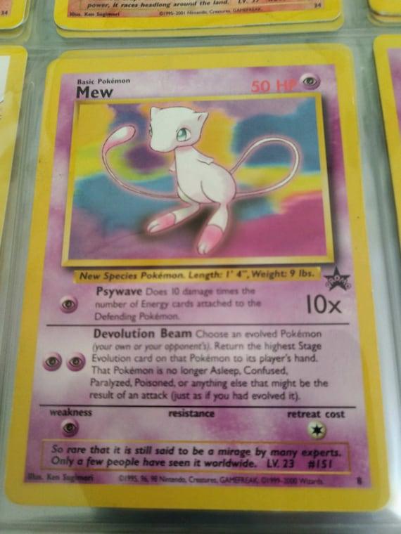 #8 Mew Black Star Promo Collectible Pokemon Card NM-Mint