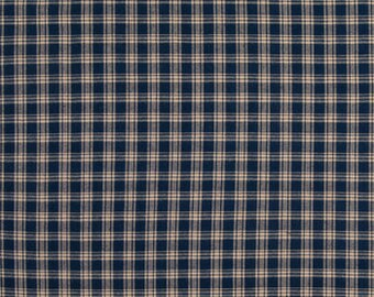 Fabric by the Metre ~ 100/% Cotton Homespun Check Gingham ~ NAVY check fabric