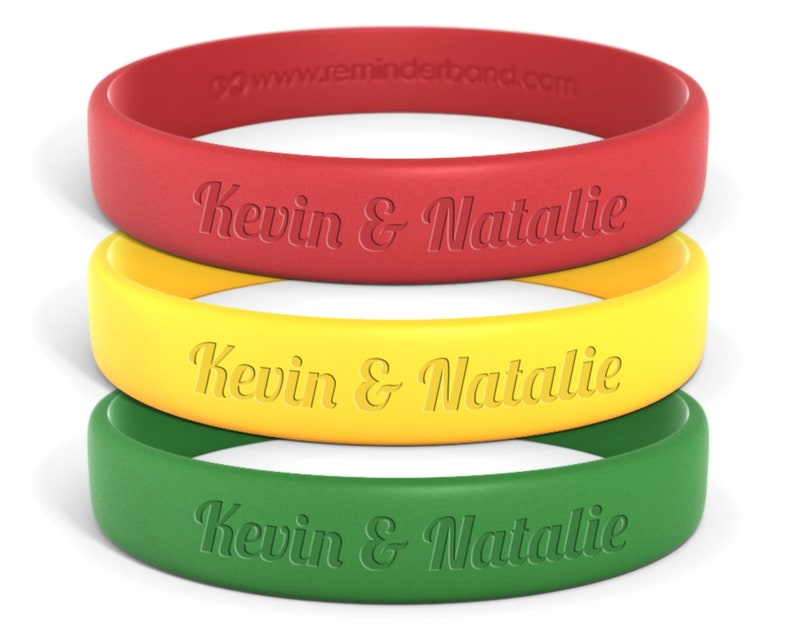 Parties Events Engraved Color Coded bracelets for Covid Wedding Wedding Favors Personalized Social Distance Wedding Wristbands