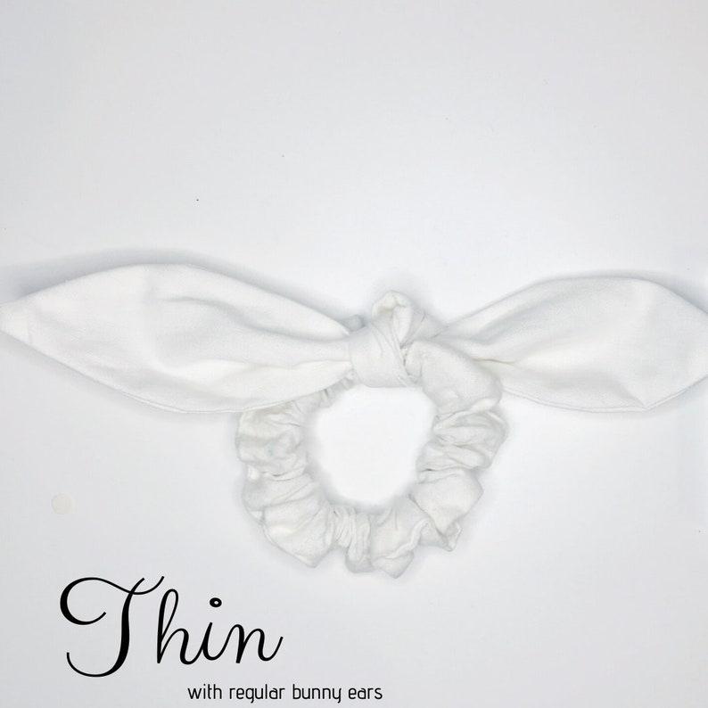 100/% Upcycled Fabric Scrunchie Zig Zag
