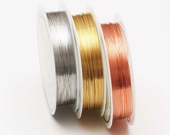 1.5mm x 10 mts Pure Copper Wire Jewellery Making Crafts Hobbies.......