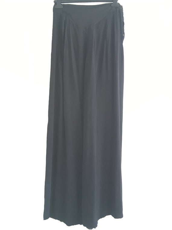 RARE 1930s Black Lounge Pyjama Trousers - image 2