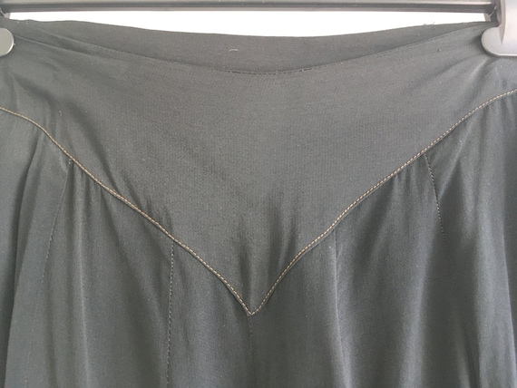 RARE 1930s Black Lounge Pyjama Trousers
