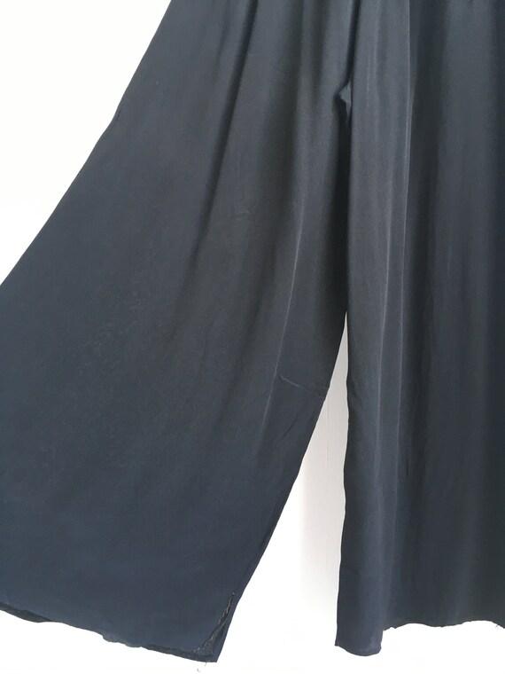 RARE 1930s Black Lounge Pyjama Trousers - image 3