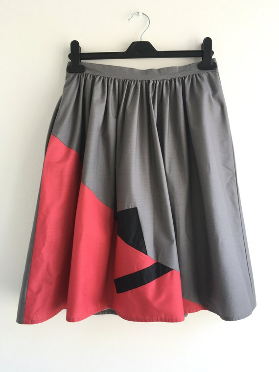 1980s Colour Block Skirt