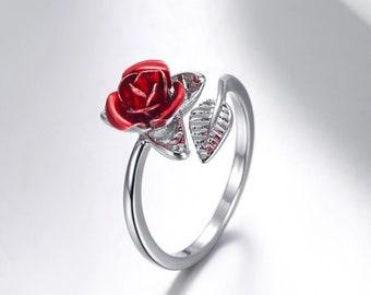 Genuine Multi-Gemstone Globe Pen in Red Rose Free Shipping Great Gift