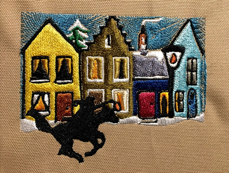 Horseman Paul Revere Machine Embroidery Pattern Midnight Rider Embroidery Design Digital File
