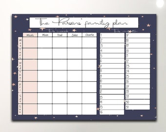 Personalised Gardening Home Family Wall Planner Calendar Any 12 Months Start