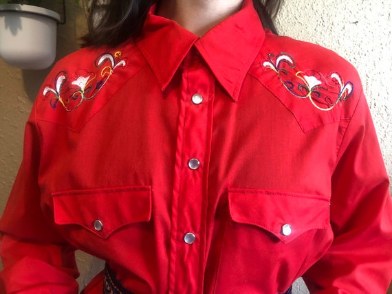 1970's Embroidered Western Shirt by Lariat
